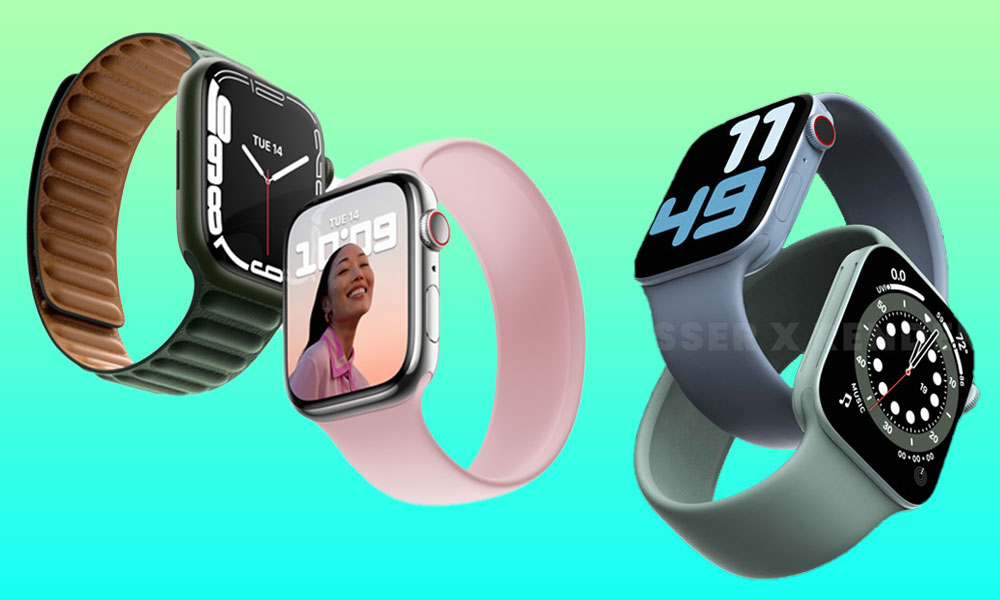 Apple Watch Series 7 actual vs leaked rumored renders