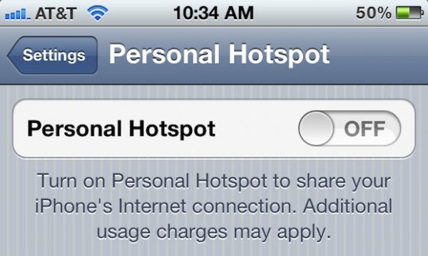 how to change the name of your iphone hotspot