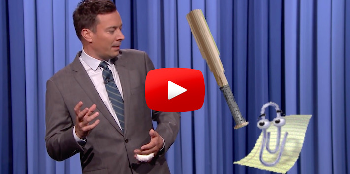 Jimmy Fallon Learns a Lesson, Don't Bring Your Mac Around Clippy