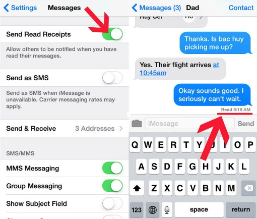 apple ios read receipts
