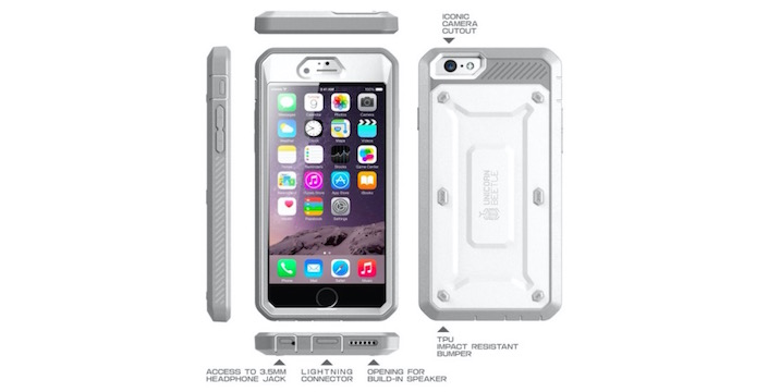 Rugged Full Body iPhone 6 Plus Case with Built in Screen Protector - Only $19.99