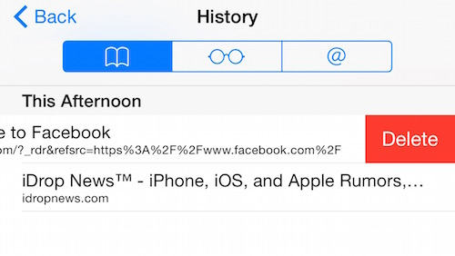 how to delete browsing history on safari on iOS 8, iPhone 6