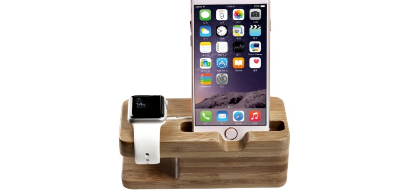 Bamboo Wood Charge Station for Apple Watch & iPhone - 63% OFF