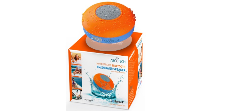 Water Resistant Bluetooth Shower Speaker with FM Radio - 64% OFF