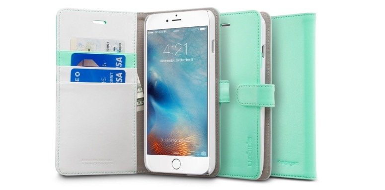 Spigen Mint iPhone 6 Plus Wallet Case - Save $10 Instantly