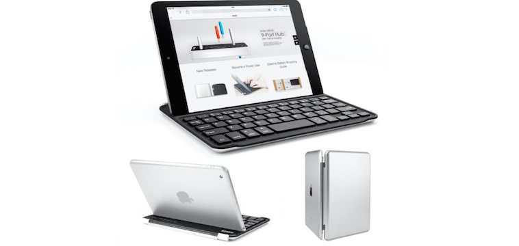 Bluetooth Aluminum Keyboard Cover for iPad mini - 45% OFF