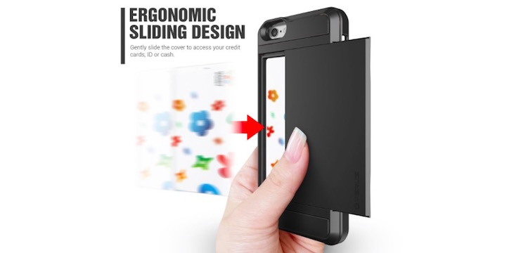 Slide Open Card Slot Wallet Case for iPhone 6 - Only $5.99!!