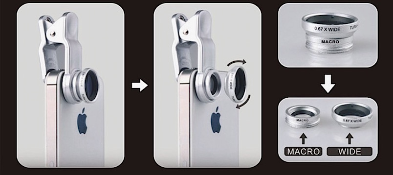 180° Fisheye Lens + Wide Angle + Macro Lens Photo Kit - 80% OFF
