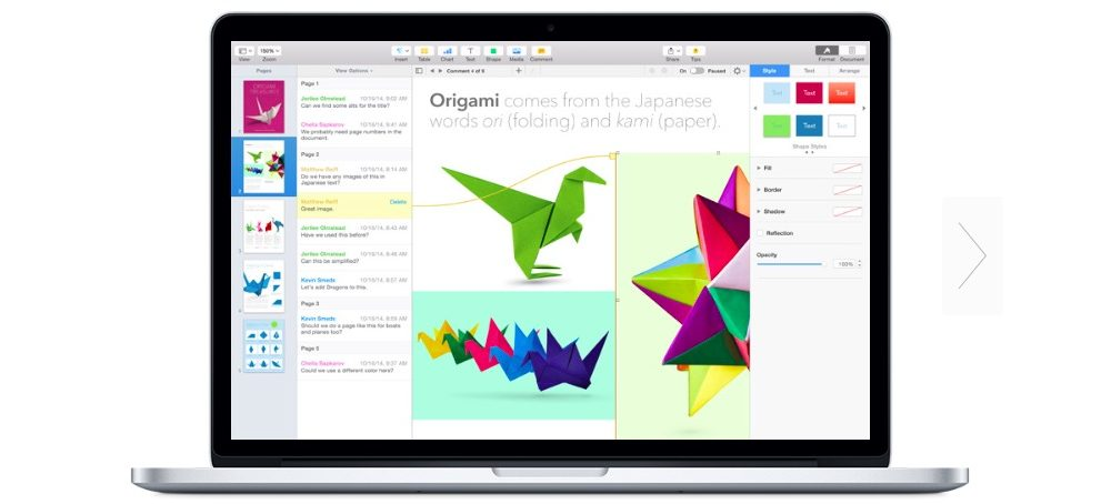 iWork Suites for iOS and OS X Get Major Renovations