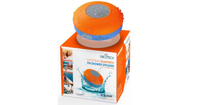 Bluetooth Shower Speaker with FM Radio and Suction Cup - 64% OFF