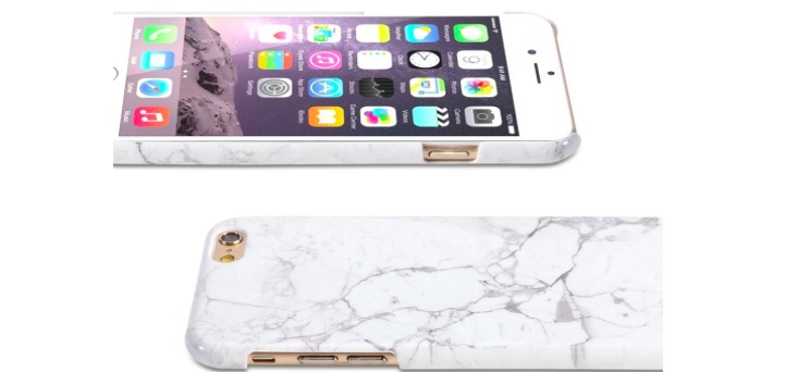 Glossy White Marble Pattern Case for iPhone 6s - Only $8.98!!