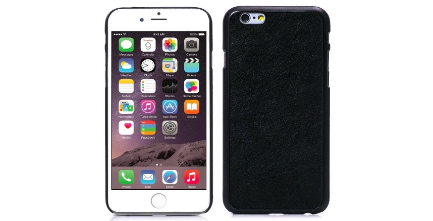 Hard Black Leather Case for iPhone 6 - Only $6.99