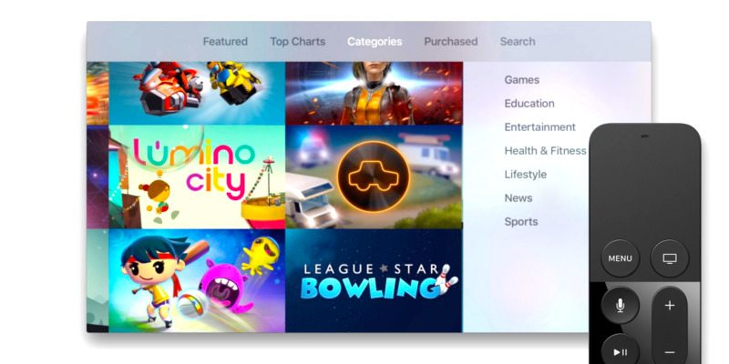 Automatic Apple TV Update Adds New App Categories