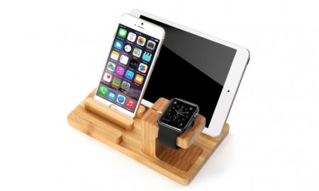 Natural Bamboo Multi-Device Charging Station - 81% OFF