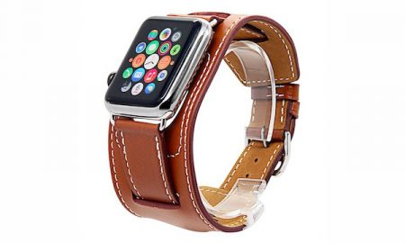 Leather Apple Watch Cuff Band - 37% OFF