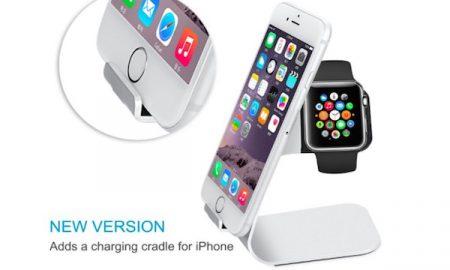 Aluminum Apple Watch & iPhone Charging Dock - 50% OFF