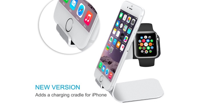 Aluminum Apple Watch & iPhone Charging Dock - 50% OFF