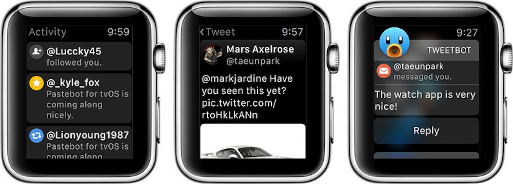Twitter User's Favorite App, Tweetbot, Now on the Apple Watch
