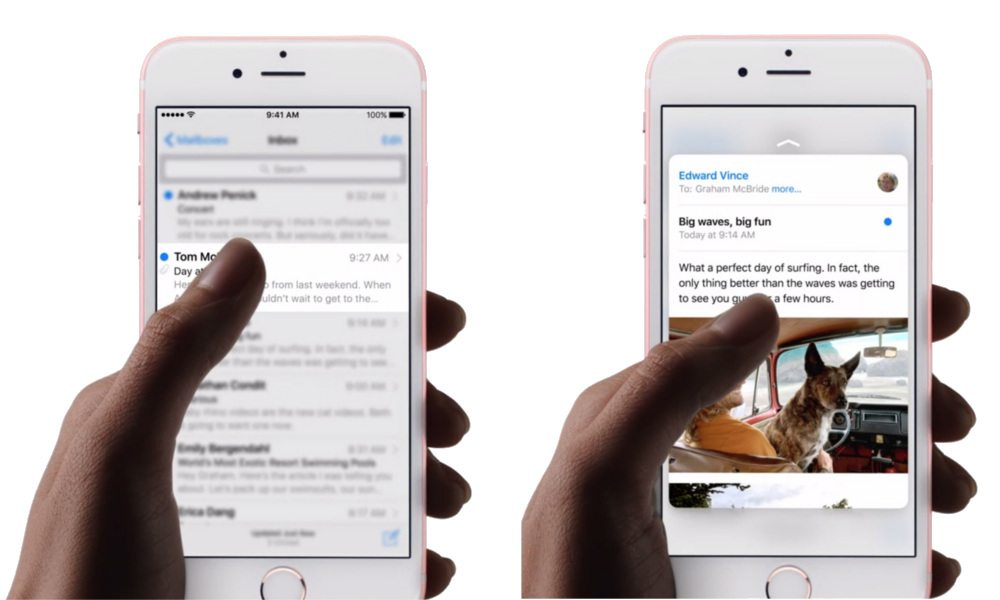 iOS 9.3 to Add Many New 3D Touch Shortcuts