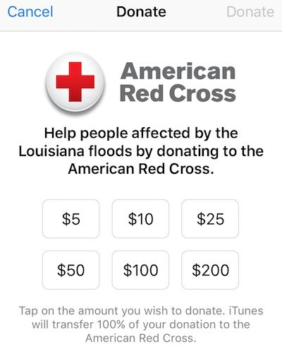 Red Cross Donations
