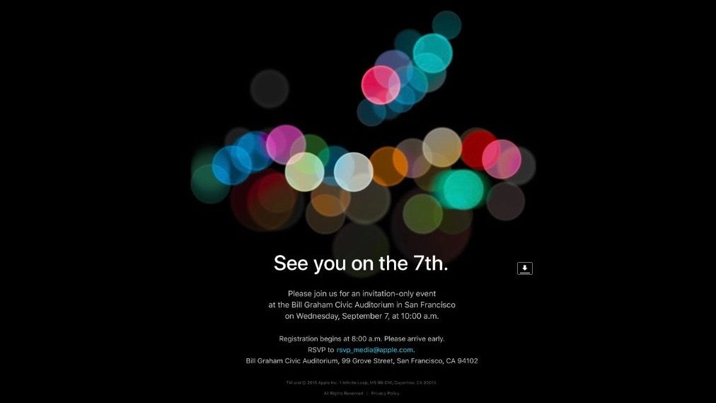 Confirmed: Apple's iPhone 7 Announcement Event Will Be Held September 7th at 10 am