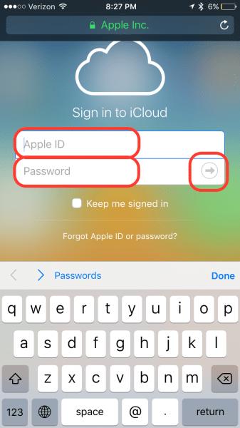 iCloud Login Guide Step 4