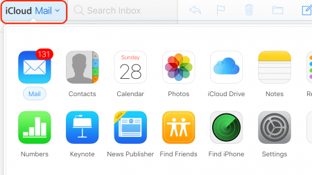 iCloud Login Guide In App Navigation Horizontal