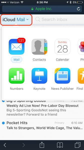 iCloud Login Guide In App Navigation