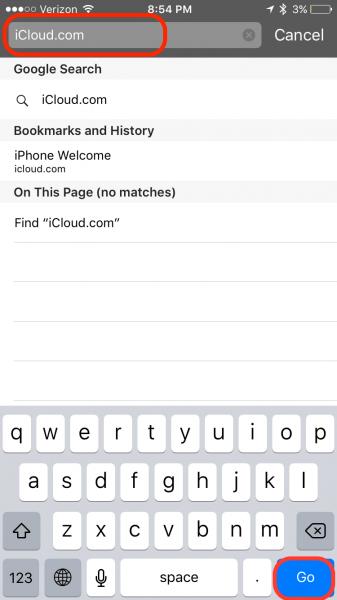 iCloud Login Guide Step 1