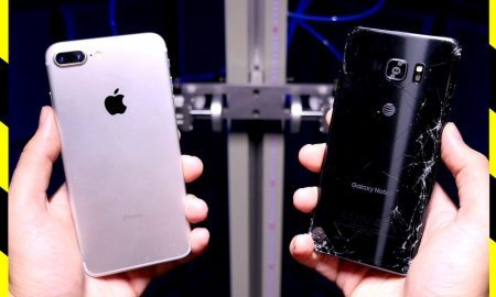 Video: iPhone 7 vs. Samsung Galaxy Note 7 Drop Test - Which Will Survive?