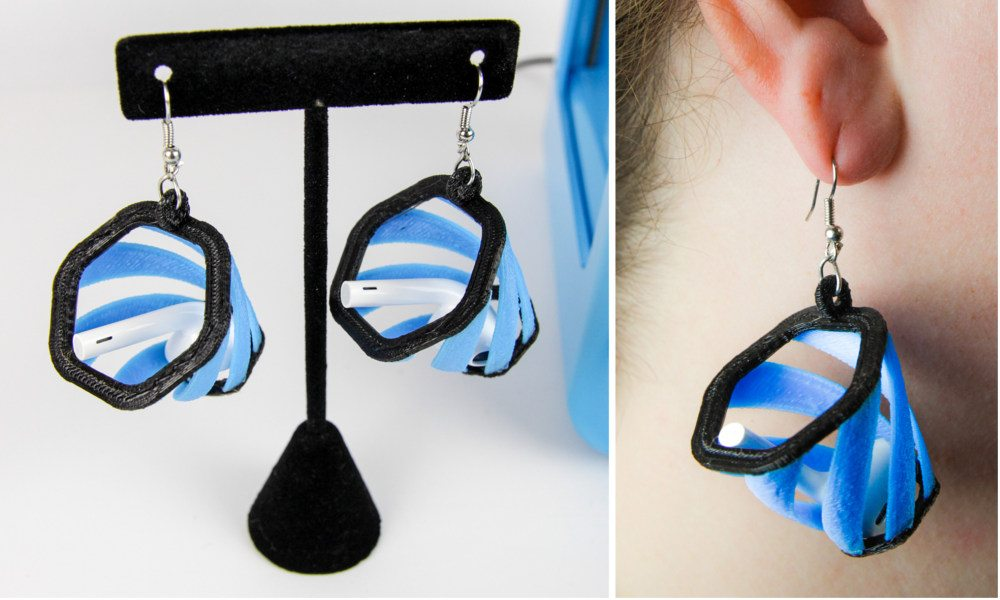 These 3D-printed Earrings Could Save Your AirPods From Getting Lost