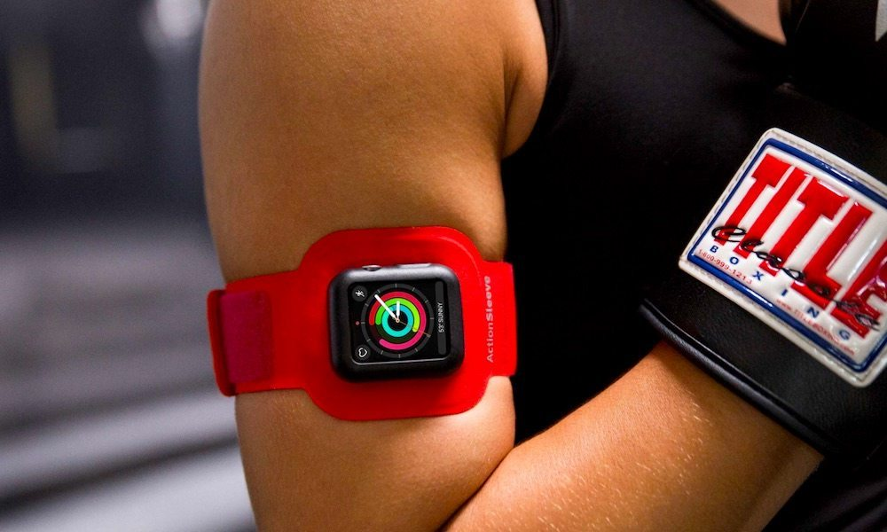 new armband for apple watch makes upper body exercise hassle free. Black Bedroom Furniture Sets. Home Design Ideas