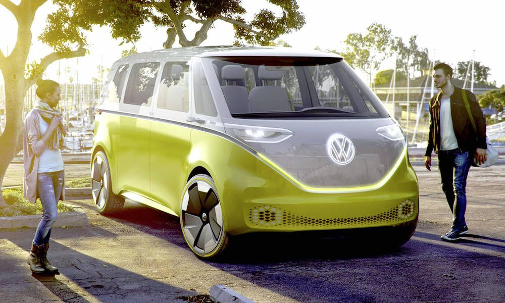 iconic volkswagen bus to return as electric self driving vehicle in 2020. Black Bedroom Furniture Sets. Home Design Ideas