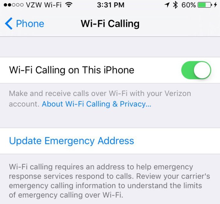 verizon iphone carrier update ios 10 3 enables wi fi calling to icloud connected devices 16397