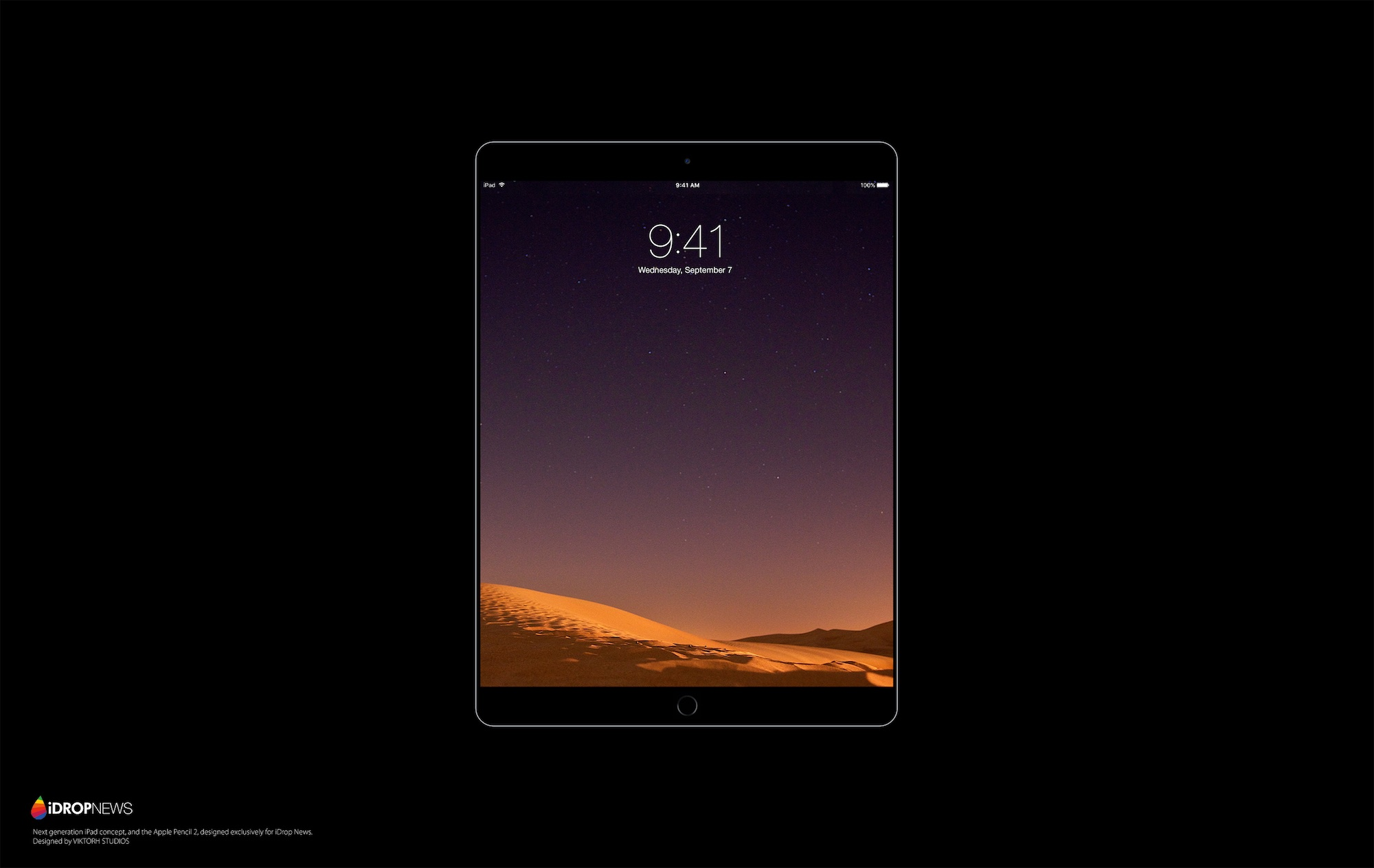 iPad Pro 2 concept in black