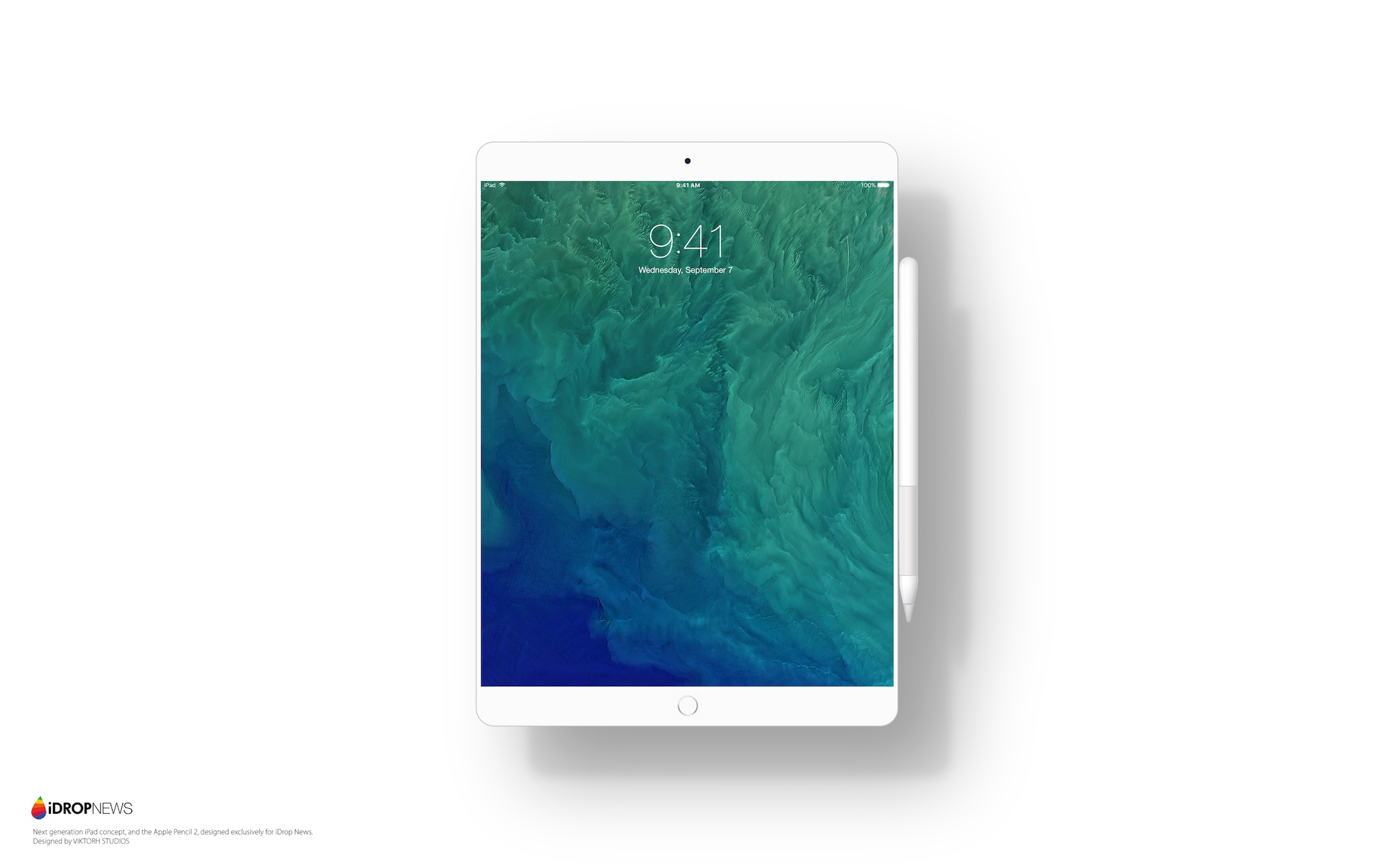 iPad Pro 2 concept in white