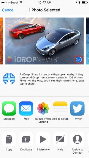 Apple AirDrop Photo Sharing