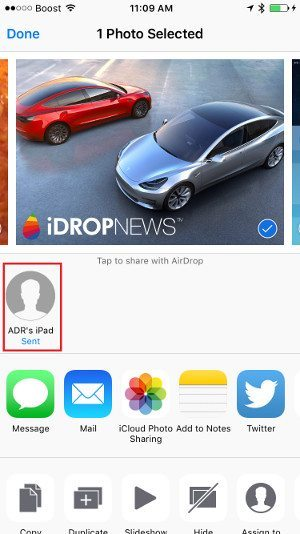 iPhone Airdrop Friends