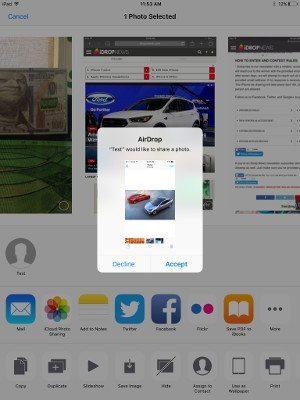AirDrop iPad Friend