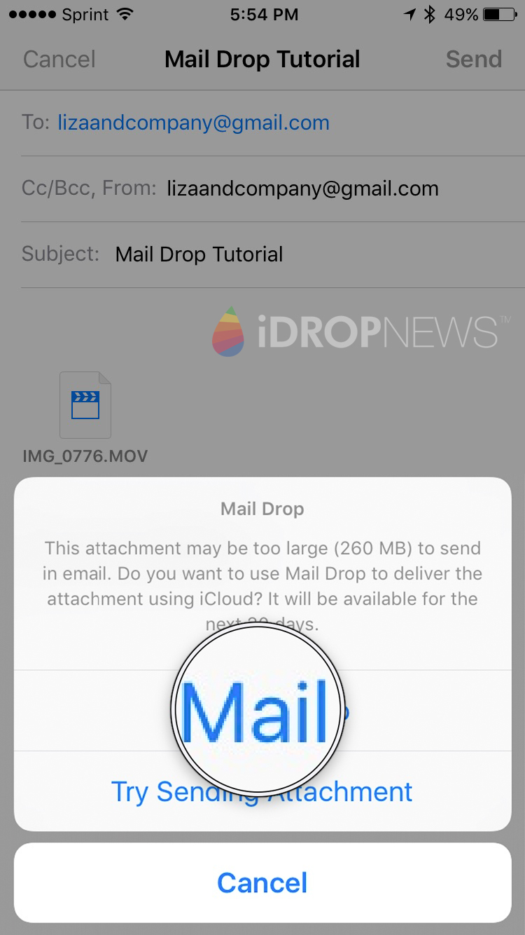 How to Mail Drop on iPhone