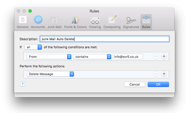 how to delete emails in mac mail