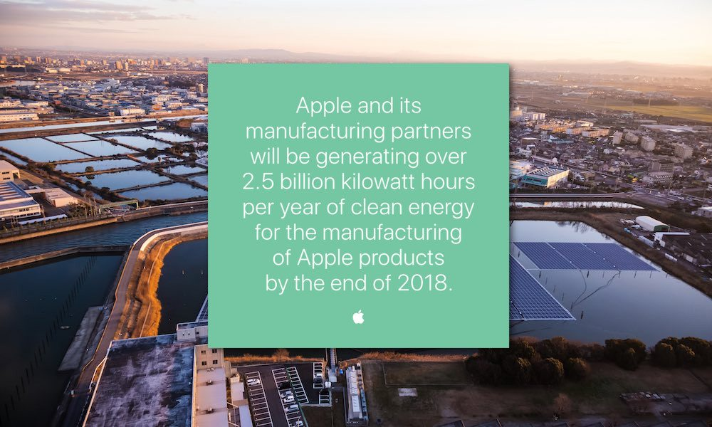 Japanese Apple Supplier Commits to 100% Clean Energy