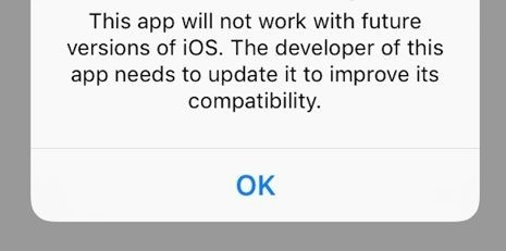iOS Warning
