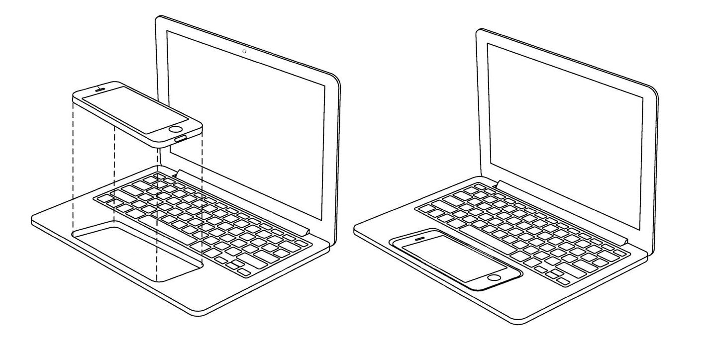 19790261 Patent Envisions Powered Touchscreen Laptop on iphone phone dock
