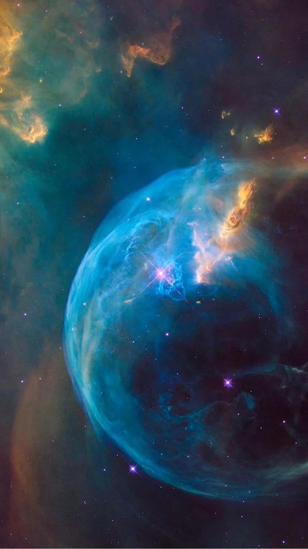 Bubble Nebula iPhone Wallpaper