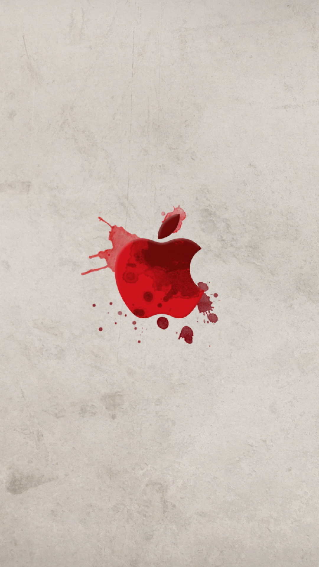 Apple in Blood iPhone Wallpaper