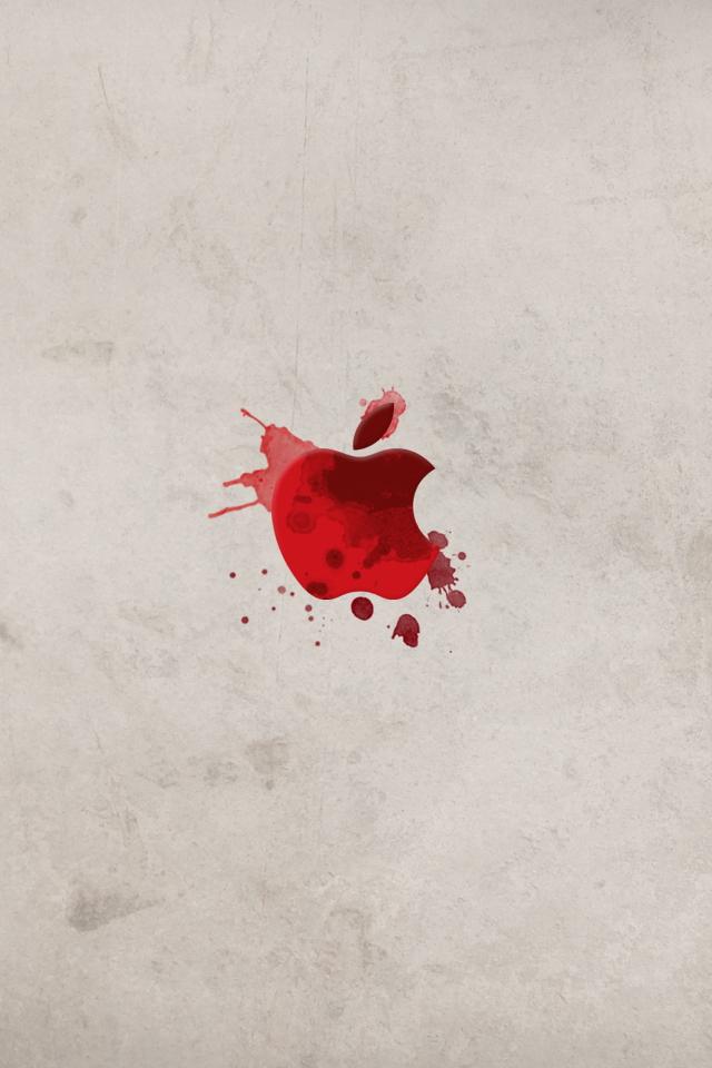 Apple in Blood iPhone Wallpaper