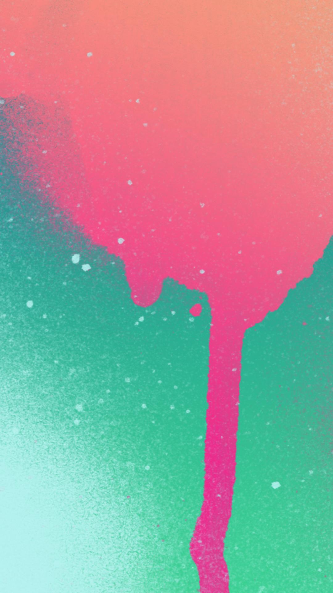 Teal Splatter iPhone Wallpaper