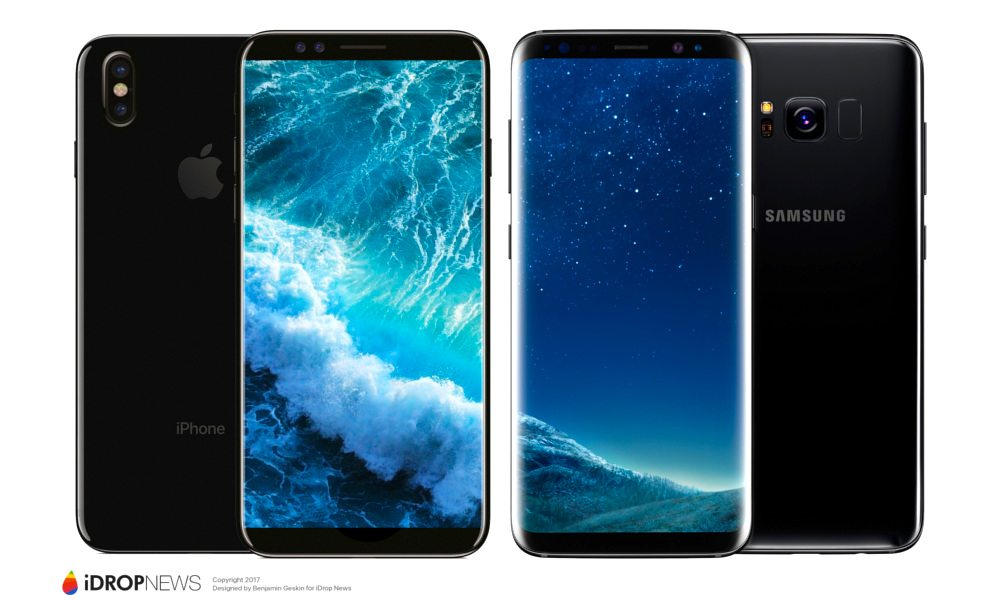 iPhone 8 vs Samsung Galaxy S8 Concept Image iDrop News