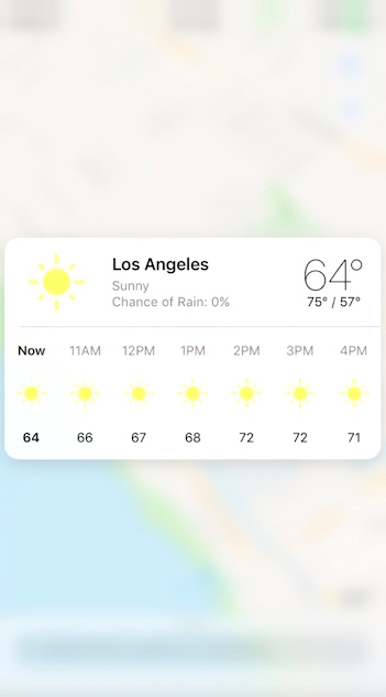 3D Touch Weather Maps